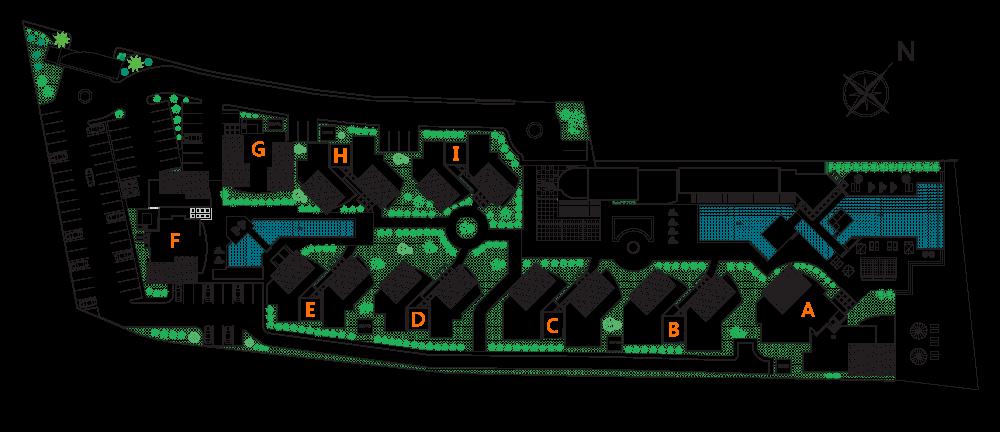 Общий план апартаментов Playa Coral в районе Пунта-Каны (Доминиканская республика)