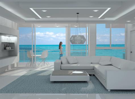 интерьер гостиной в трехкомнатных апартаментах