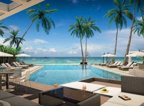 Лаундж у бассейна в Playa Coral