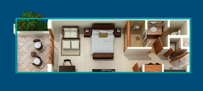 План квартиры-студии в Sotogrande (Cap Cana)