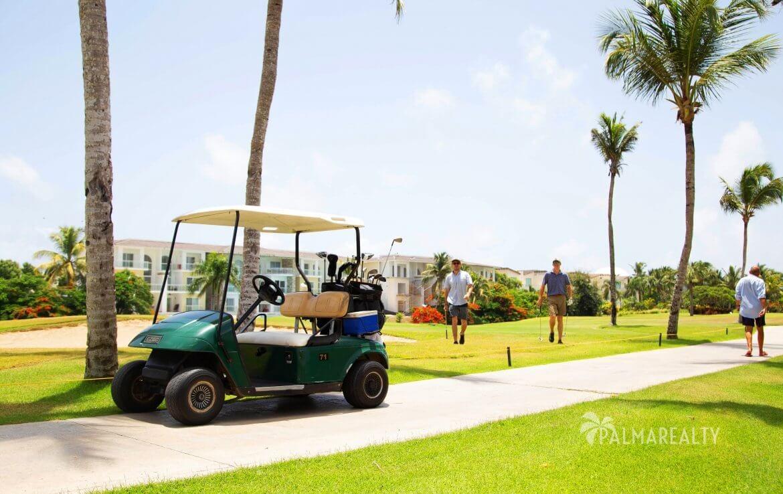 Поле для гольфа перед домом