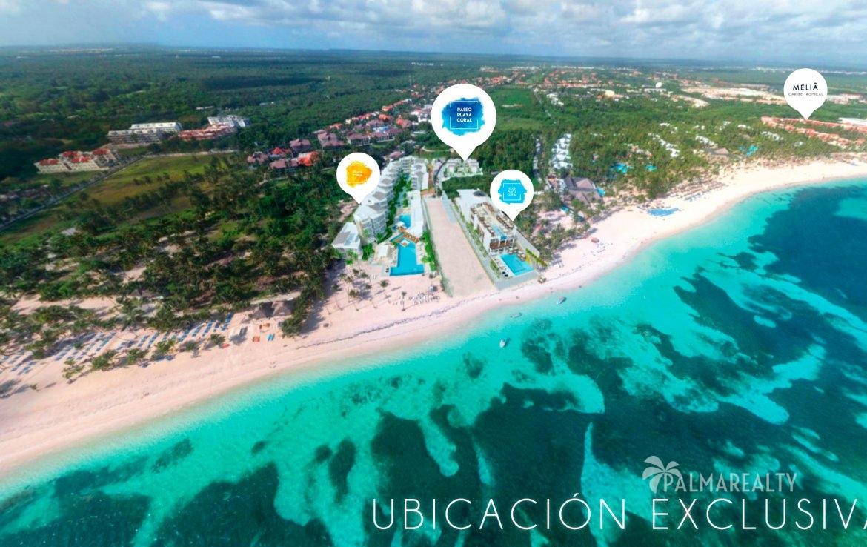 Paseo Playa Coral расположен у самого пляжа Playa Bavaro