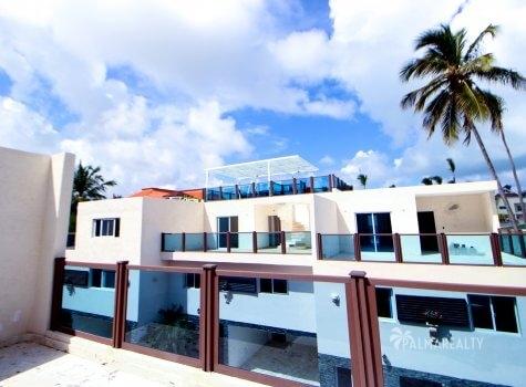Большая терраса на крыше (4 этаж)